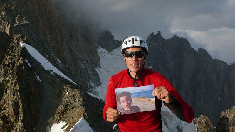Con Mathis en la cima de la Punta Baretti 4013m