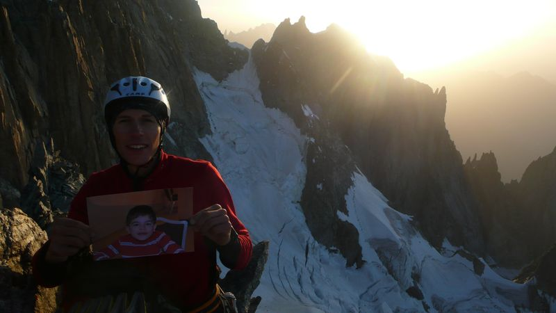 Con Mathis en la cima del Mont Brouillard 4053m
