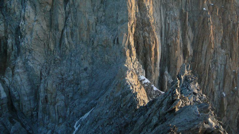 Col Emile Rey 4012m visto desde la cima del Mont Brouillard 4053m