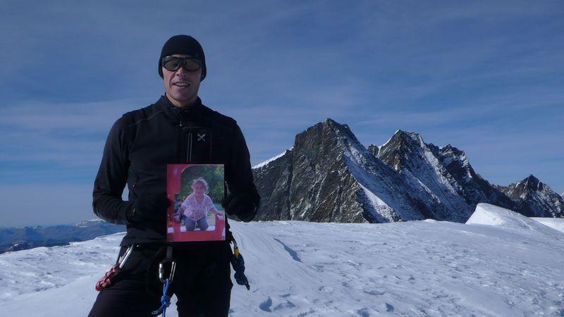Con Daniela en la cima del Alphubel