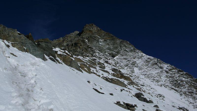 Vista de la parte final de la cresta