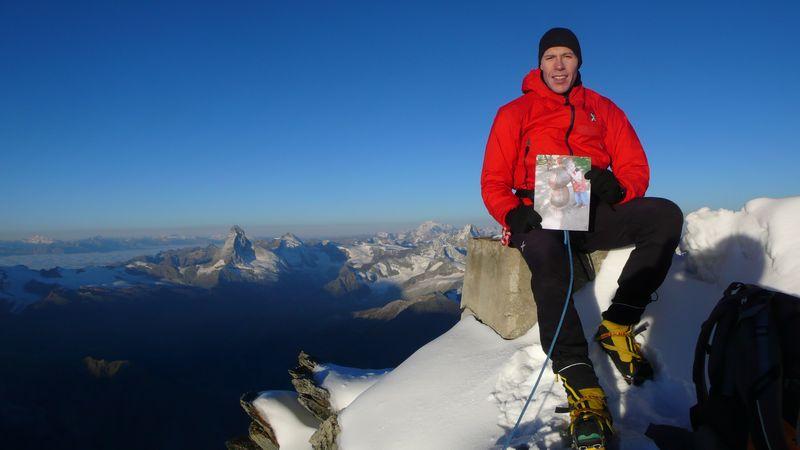 Con Ivan en la cima del Taschhorn_1