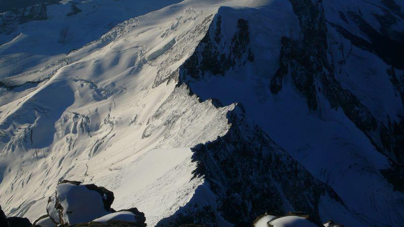 Cresta Sureste del Taschhorn vista desde la cima