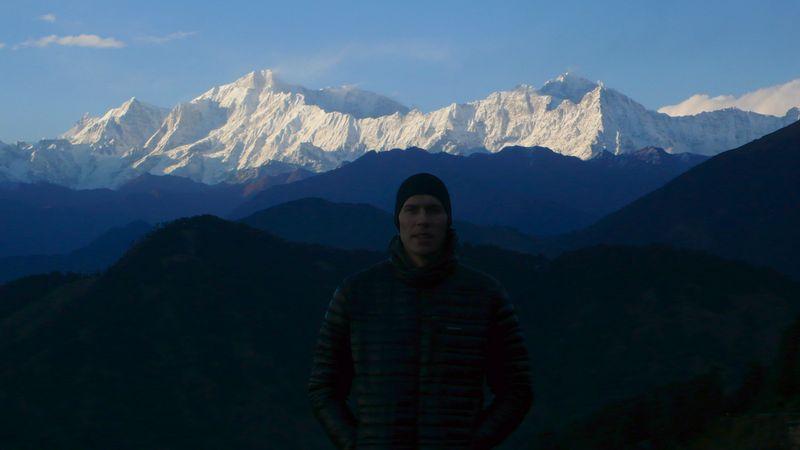 En Chopta con el Kedar Dome a mis espaldas