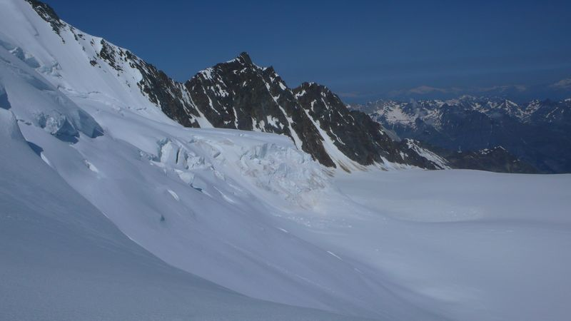 Ried gletscher visto desde el Windjoch 3845m