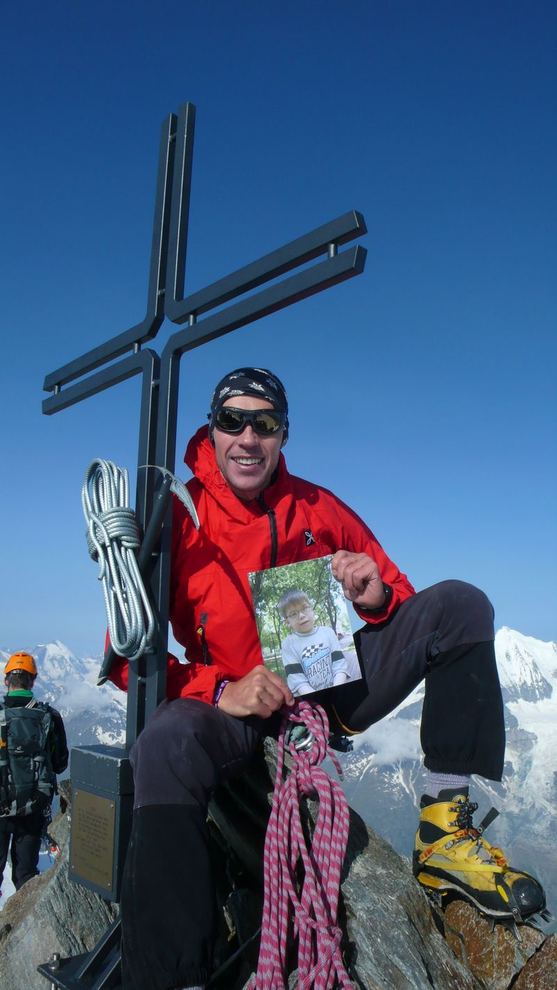 Con Michael en la cima del Stecknadelhorn 4241m