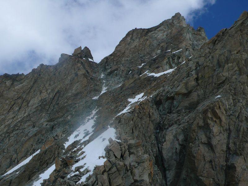 Canal de ascensión al Collado Gabel y cima del Zinalrothorn 4221m