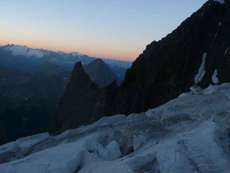 Glaciar del Freney y Col de la Innominata 3205m