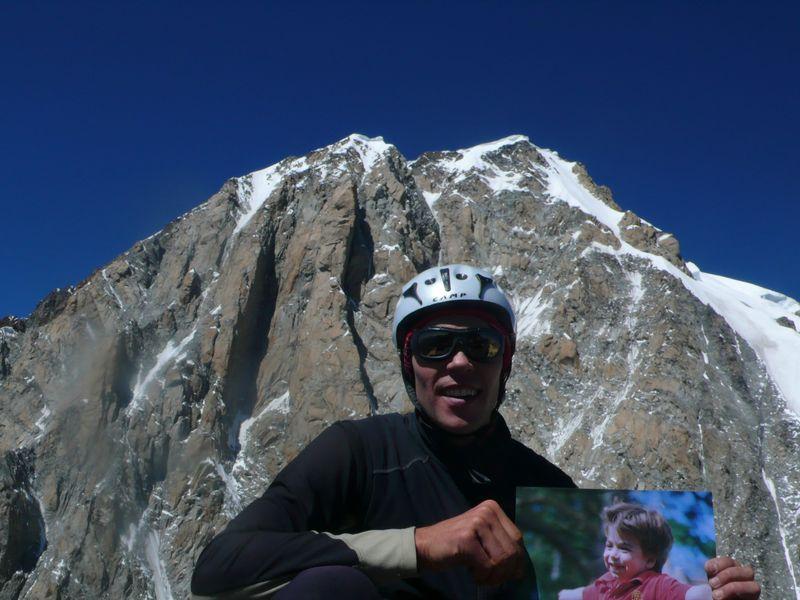 Con Daniel en la cima de la Aiguille Blanche de Peuterey