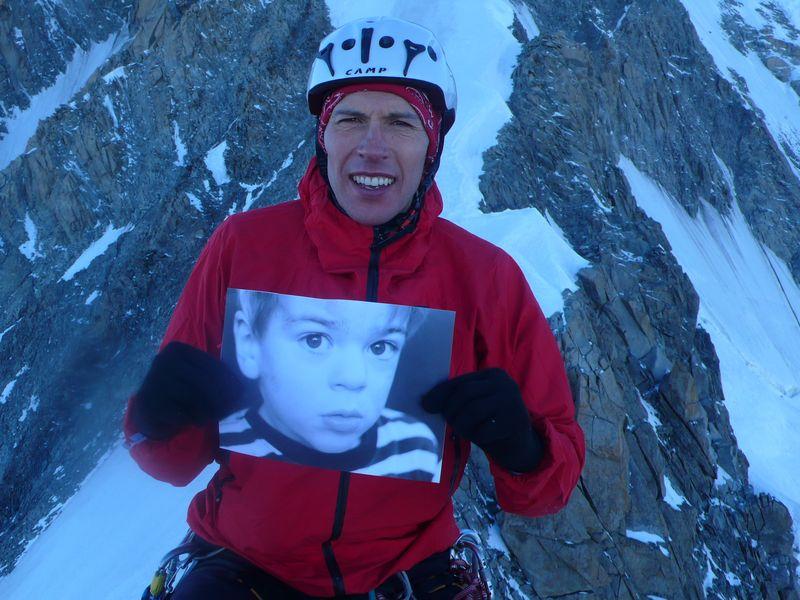 Con Maciteck en la cima del Grand Pilier d'Angle 4243m
