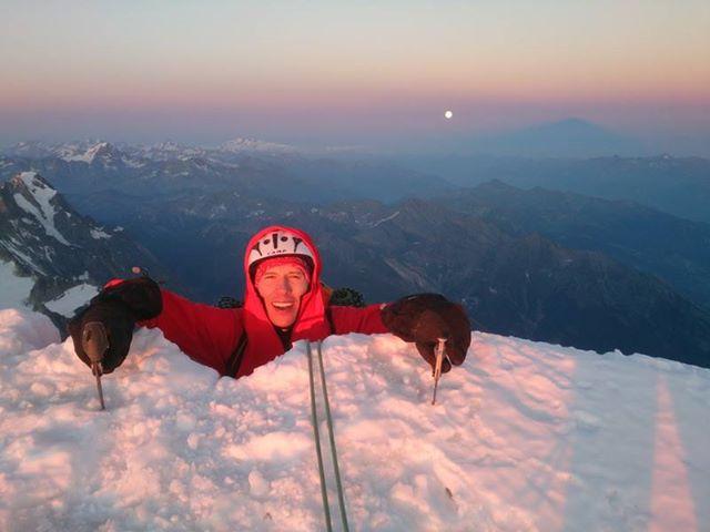 LLegando a la cima del Mont Blanc de Courmayeur