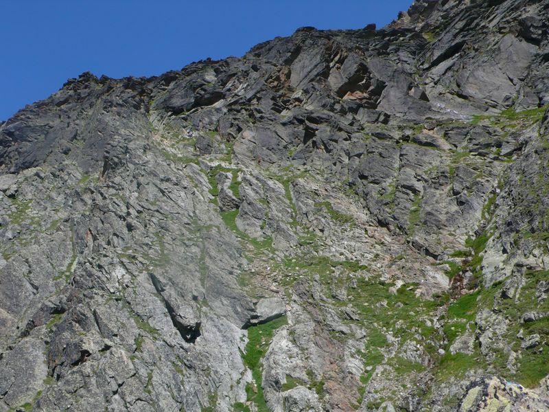 Vía ferrata para llegar al Domhütte