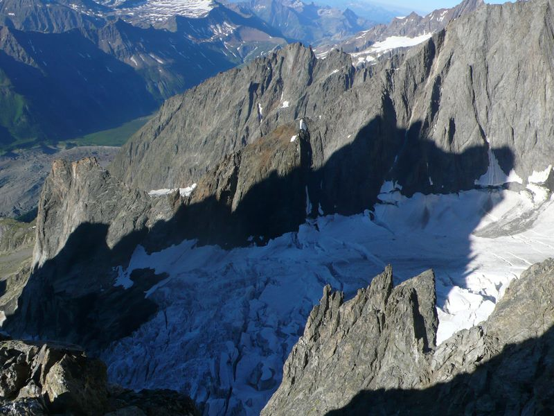 Glaciar del Freney visto desde la breche de Dames Anglaises