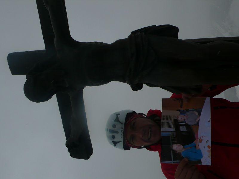 En la cima del Zinalrothorn 4221m con Mathéo