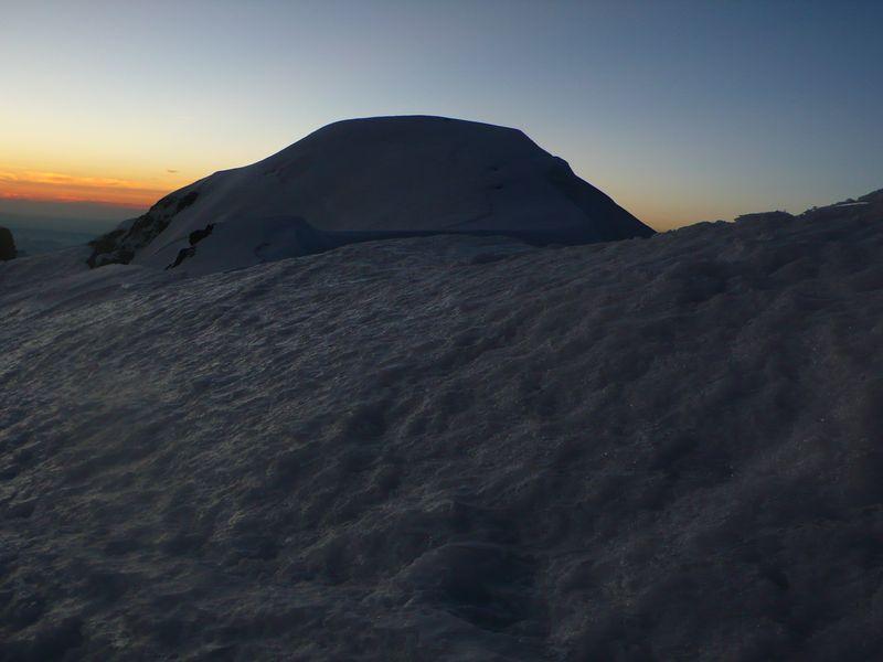Mont Blanc 4805m visto desde la cima del Mont Blanc de Courmayeur 4765m