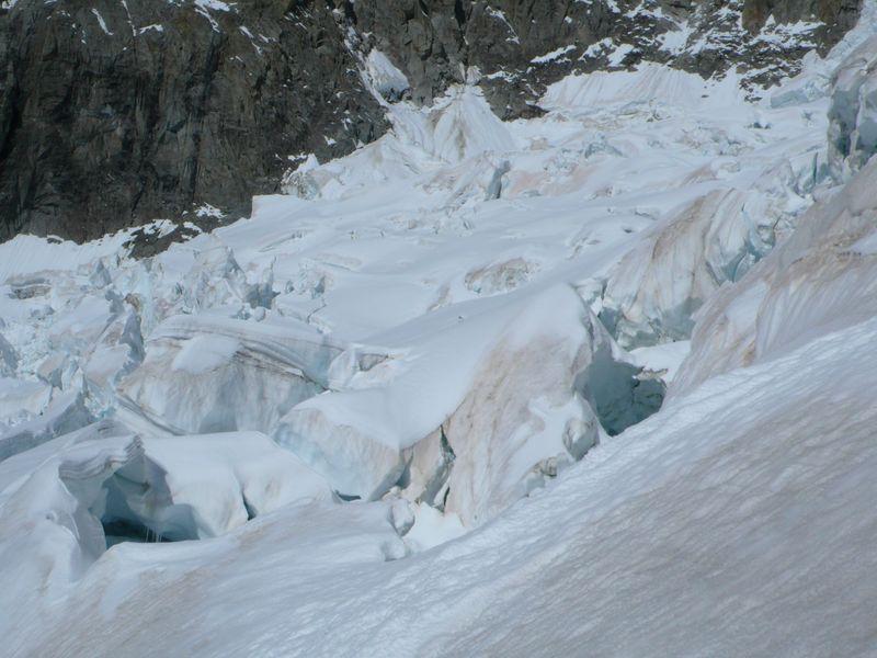 Grietas del glaciar del Brouillard