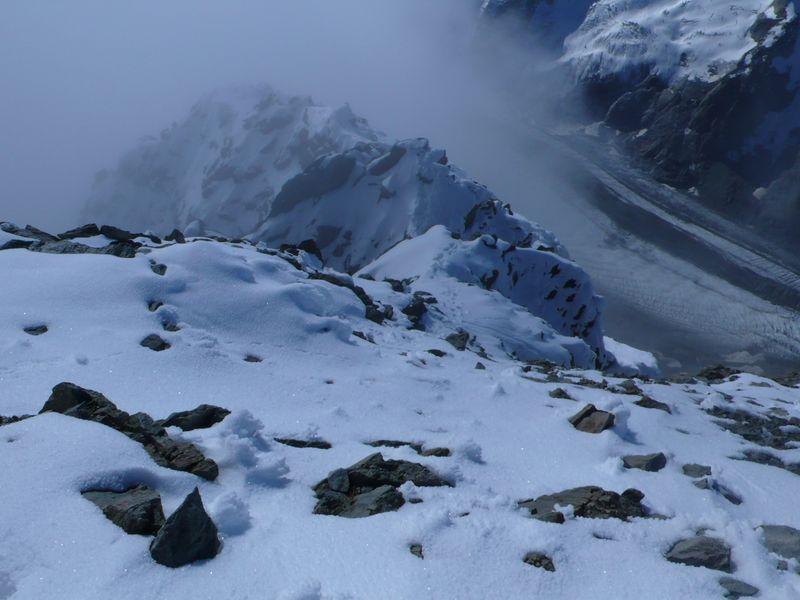 Vista desde la cima del Schreckhorn