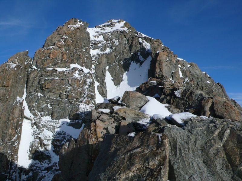 Parte final de la cresta
